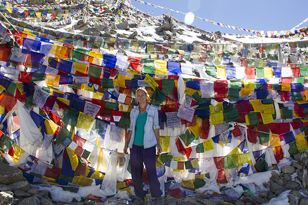Tibetan prayer flags, Ladakh, India