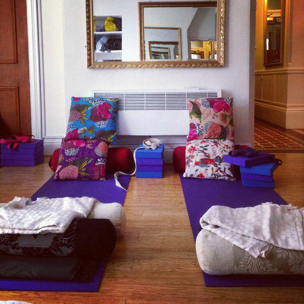 restorative yoga class props