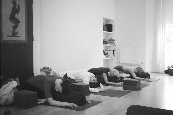 Restorative yoga class in york