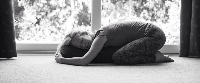 Restorative yoga – supported child's pose