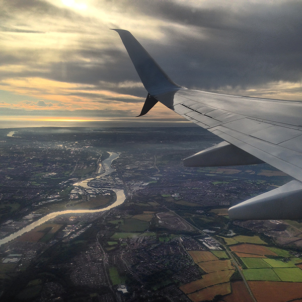 Taking flight - leaving Newcastle for Turkey