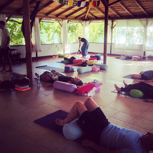 Restorative yoga with simon low